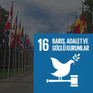 SDG 16 Sürdürülebilir Kalkınma Amacı 16 - Barış, Adalet ve Güçlü Kurumlar