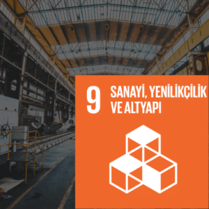 SDG 9 Sürdürülebilir Kalkınma Amacı 9 - Sanayi, Yenilikçilik ve Altyapı