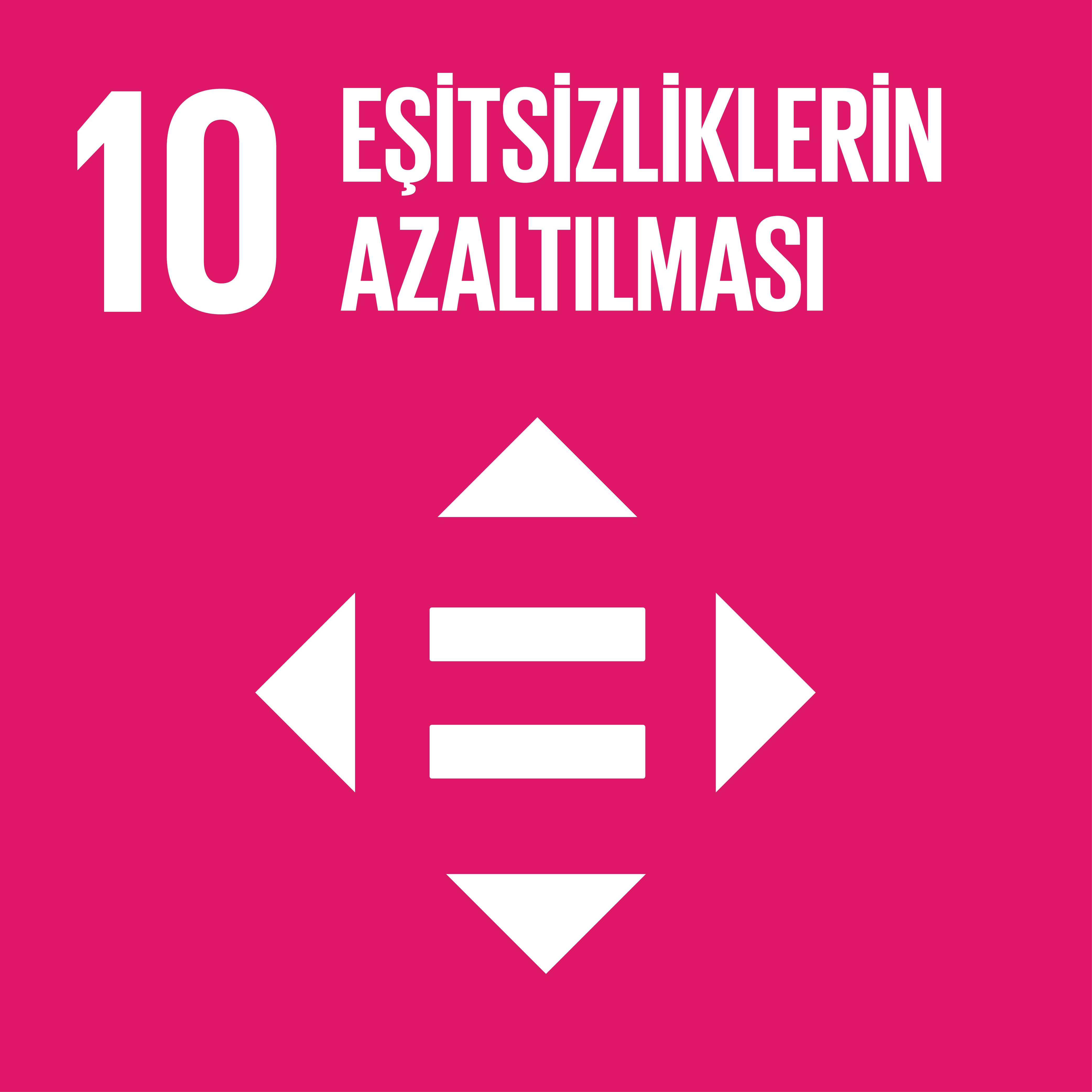 SDG 10 Sürdürülebilir Kalkınma Amacı 10 - Eşitsizliklerin Azaltılması