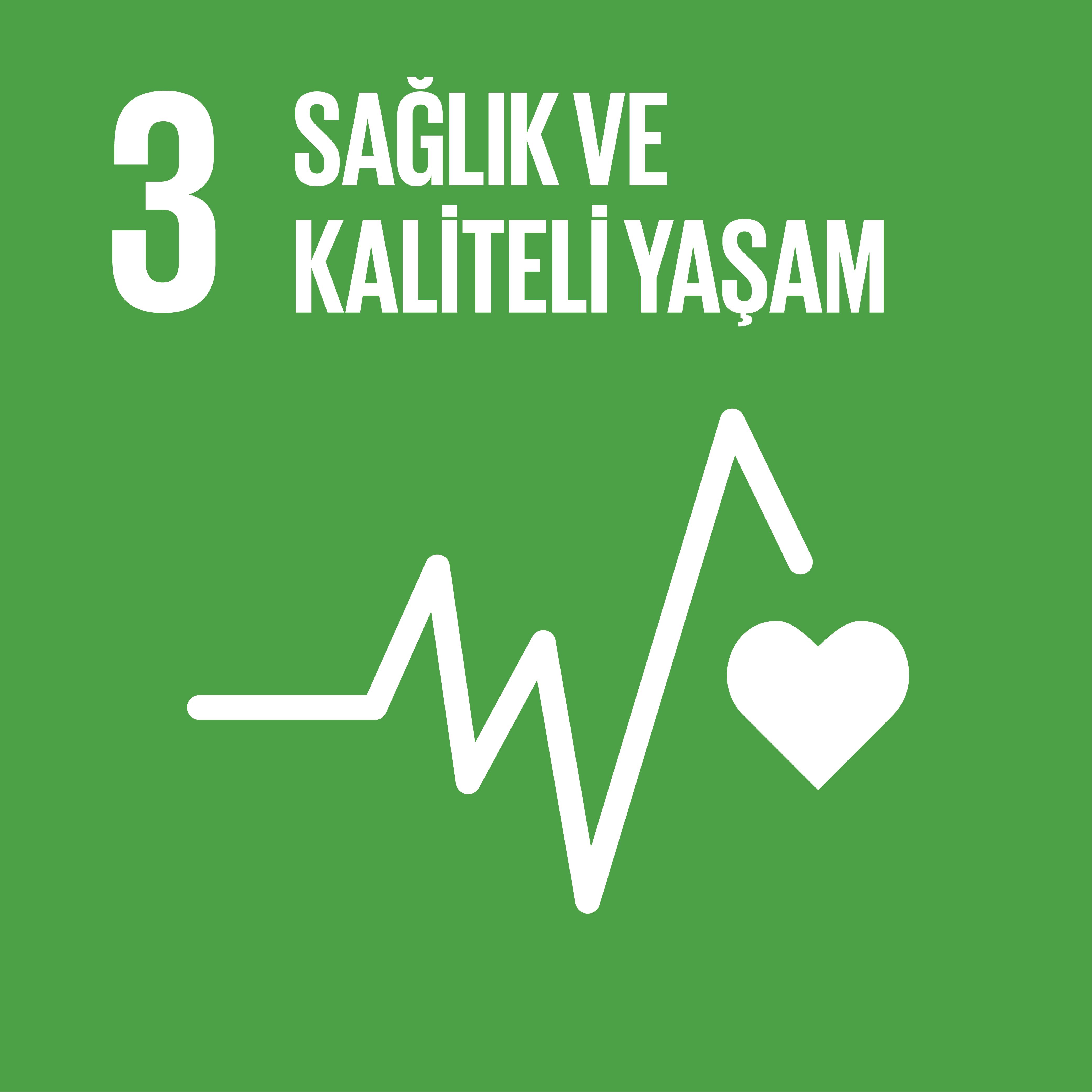 SDG 3 Sürdürülebilir Kalkınma Amacı 3 - Sağlık ve Kaliteli Yaşam